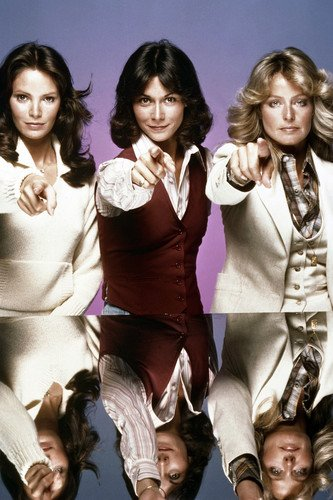 Farrah Fawcett, Kate Jackson and Jaclyn Smith in Charlie's Angels Poster classic all pointing