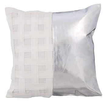 Amazon.com: Funda de almohada de lujo plateada, funda de ...