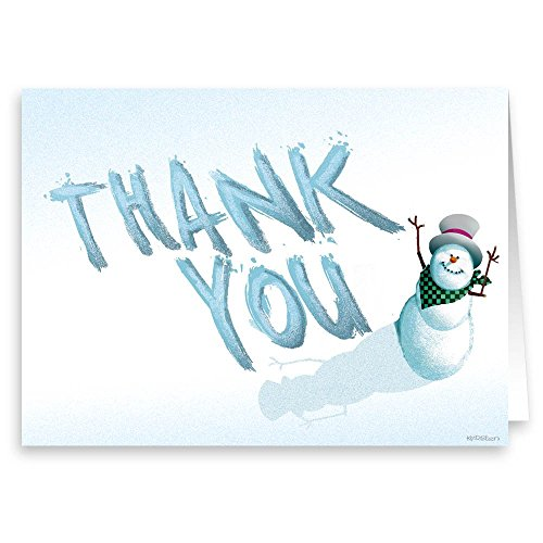 Snowman Thank You Note Card - 18 Boxed Cards & Envelopes