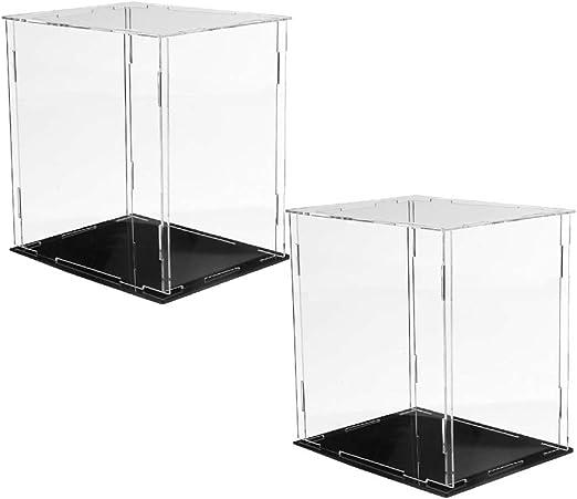 CUTICATE 2 Piezas Caja de Exhibición de Acrílico Transparente ...