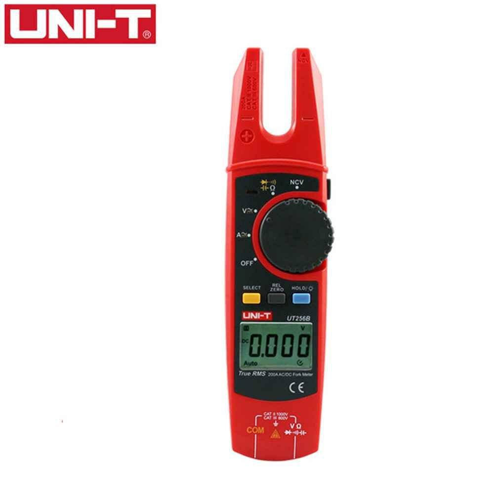 Aiming UNI-T UT256B auto de la gama 200A AC//DC verdadera actual Tenedor tipo pinza amperim/étrica digital RMS con ohmios capacitancia prueba NCV