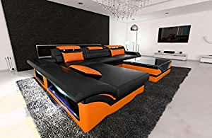 Modern Corner Sofa MONZA LED L- Shaped