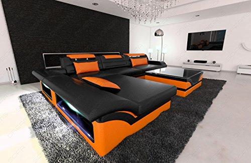Modern Corner Sofa MONZA LED L- Shaped