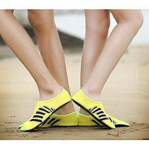 Umiwe Water Shoes Mens Womens Beach Swim Shoes Quick-Dry Aqua Socks Pool Shoes for Surf Yoga Water Aerobics Yellow-XXL ChPPF6gew