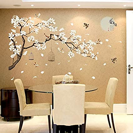 Remarkable Gadgets Wrap 43 23 Inch Big Size Tree Wall Stickers Birds Flower Home Decor Wallpapers For Living Room Bedroom Diy Vinyl Rooms Decoration Download Free Architecture Designs Grimeyleaguecom