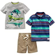 [Sponsored]Simple Joys by Carter's Toddler Boys' 3-Piece Polo, Tee, and Shorts Playwear Set