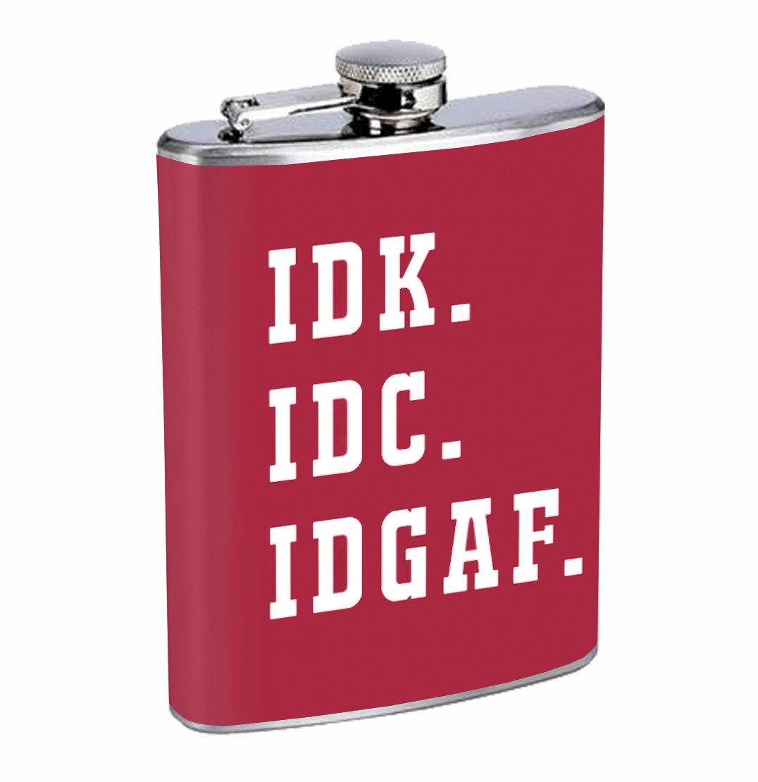 【限定セール!】 Idk。IDC。Idgaf。Funny Sarcastic Sarcastic 8オンスステンレス鋼フラスコDrinking Whiskey Whiskey B075RX5Z77, 鳴門青果:5a5042ff --- a0267596.xsph.ru