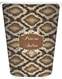 RNK Shops Snake Skin Waste Basket - Double Sided (White) (Personalized)