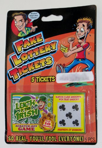 Luck O' The Irish Fake Lottery Tickets - 5 Tickets