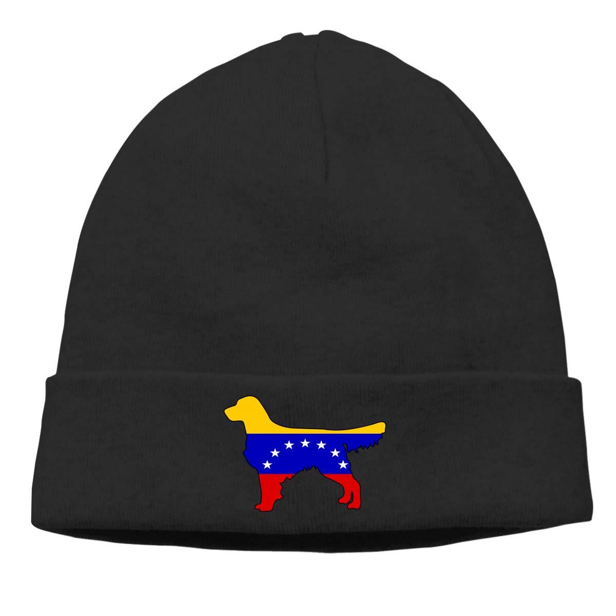Thin Stretchy /& Soft Winter Cap Venezuela Flag Golden Retriever Dogs Men /& Women Solid Color Beanie Hat