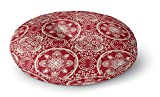 KAVKA DESIGNS Christmas In Plaid Red Floor Pillow, (Red/Ivory) - TRADITIONS Collection, Size: 23x23x8 - (TELAVC1035FPR23)