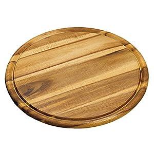 Kesper 20444 - Tagliere rotondo in legno di acacia, Diametro 30 cm, Spessore 1.5 cm 7