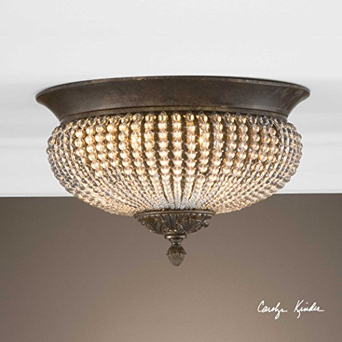 De Lisbon Crystal Flush Mount The Cristal Collection Flush Mounts - Cristal Lisbon Collection De