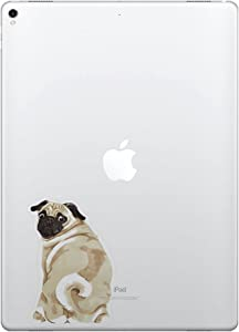FINCIBO 5 x 5 inch Pug Dog Removable Vinyl Decal Stickers for iPad MacBook Laptop (Or Any Flat Surface)