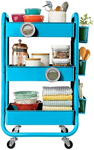 DESIGNA Rolling Storage Accessories Turquoise product image