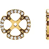 STU001- 14K Yellow 1/5 CTW Diamond Earring Jackets
