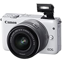 Canon EOS M10 Mirrorless Digital Camera with 15-45mm Lens (Gray) - International Version (No Warranty)