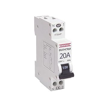 Debflex 707042 Phase, Neutralleiter, 20 A LS-Schalter, weiß: Amazon ...