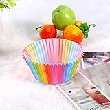 Yosoo Colorful Rainbow Paper Cake Cup Baking Muffin