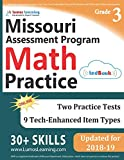 Missouri Assessment Program Test Prep: 3rd Grade Math Practice Workbook and Full-length Online Assessments: MAP Study Guide