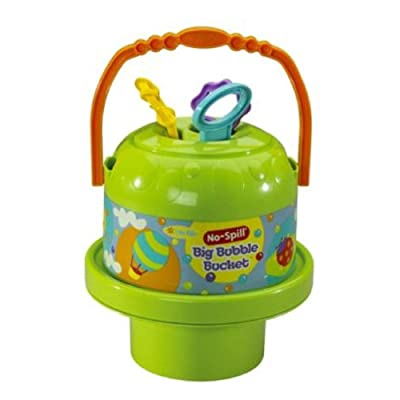 Little Kids Fubbles No-Spill Big Bubble Bucket (Colors may vary): Toys & Games