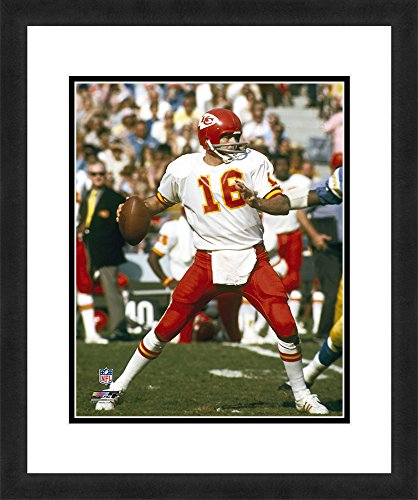 NFL Kansas City Chiefs Len Dawson, Beautifully Framed and Double Matted, 18