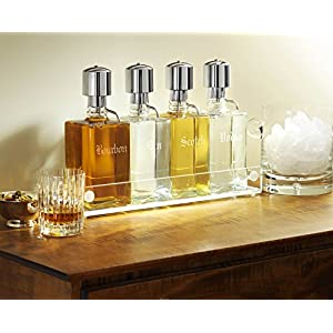 Liquor Decanter Pump Dispenser Bar Set