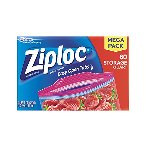 Ziploc Storage Quart Bags Count product image