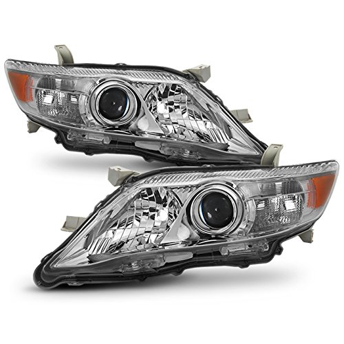 Le Xle Model (For 2010-2011 Toyota Camry LE/XLE Models Chrome Headlights Front Lamps Direct Replacement)