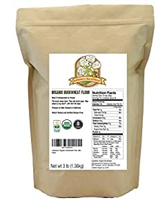 Organic Buckwheat Flour (3lb) by Anthony's, Grown in USA, Gluten Free
