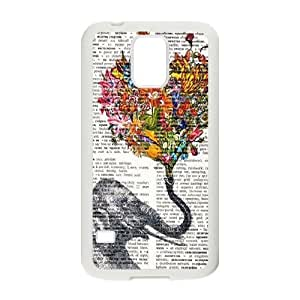 Elephant on Dictionary ZLB521625 Customized Case for SamSung Galaxy S5 I9600, SamSung Galaxy S5 I9600 Case