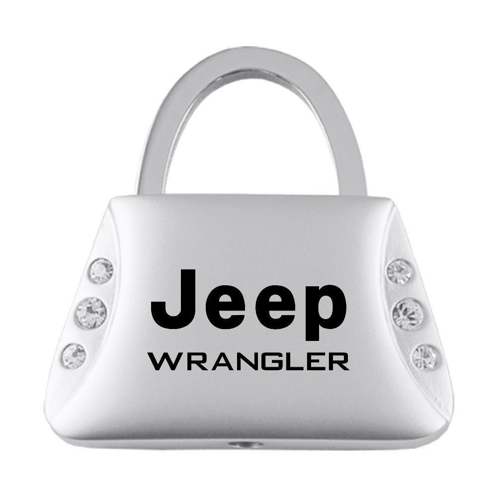 Jeep Wrangler Clear Crystals Purse Shape Key Chain Au-Tomotive Gold INC