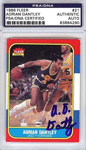 - Adrian Dantley Autographed 1986 Fleer Card #21 Utah Jazz #83884290 - PSA/DNA Certified - Basketball Autographed Cards