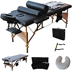 "84""L Massage Table Portable Facial SPA Bed W/Sheet+Cradle Cover+2 Pillows+Hanger"