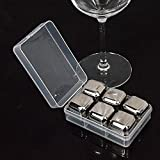 Other Bar Tools - 4/6/8pcs/lot Magic Stainless Steel Whisky Ice Cube Beer/vodga/cocktail Cooler Chilled Drinks Cooling Stone Ktv Supplies Bar Tool - 6pcs - Homebrew Supply Mixing Scooper