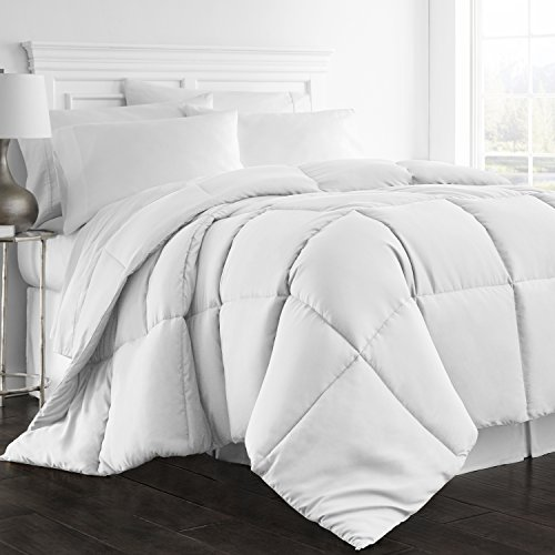 Beckham Hotel Collection 1300 Series – All Season – Luxury Goose Down Alternative Comforter – Hypoallergenic  – Twin/Twin XL – White