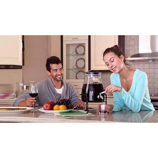 HQCC Barril de Vino de Vidrio sin Plomo, Cerveza casera/Almacenamiento de Jugo, Botella de enzima, dispensador de Vino multifunción - 7.9 litros (Capacidad ...