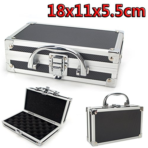 DODOING Aluminium Alloy Tool Box Portable Storage Suitcase Travel Luggage Organizer Case