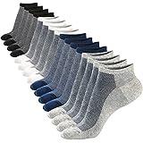M&Z Mens Low Cut Ankle Non-slid Socks Cotton Mesh Top Fresh Ventilation Socks 8PACK