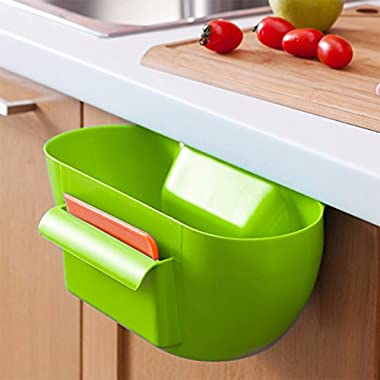Ayutthaya shop Cute house kitchen cabinet trash bin waste disposal bin portable holder lixeira garbage can poubelle bolsa p apelera lixo. Color:Send Randomly