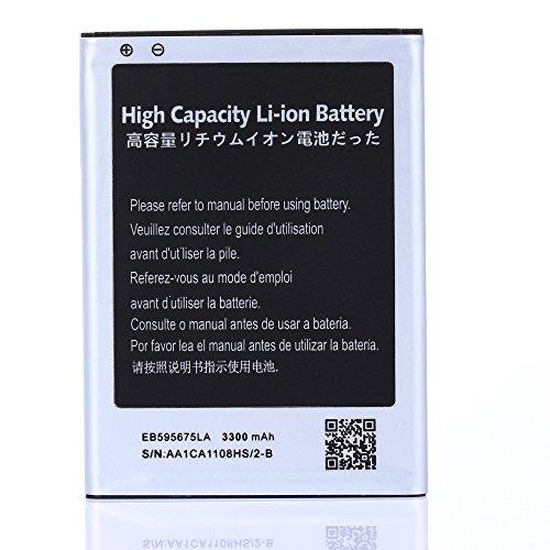 High Capacity Samsung Galaxy Note 2 Battery EB595675LU EB595675LA For Samsung Galaxy Note 2 SGH-T889 / Samsung Galaxy Note 2 GT-N7100 / Samsung Galaxy Note 2 SCH-R950 / Samsung Galaxy Note 2 SGH-i317 / Samsung Galaxy Note 2 SPH-L900 3300 mAh