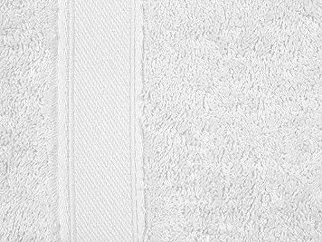 REVITEX - Toalla Rizo Estela Blanco - Baño 70x140 cm - 100% Algodón - Gramaje 500g/m²: Amazon.es: Hogar