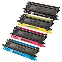 4 pack Brother TN-115 (TN115) BK/C/M/Y OEM Original High Yield Toner Cartridge Combo Set~Original made by Brother compatible with DCP 9045 9040 HL-4040 4070