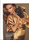 **PRINT AD** With Natasha Poly In Gold Dress For 2007 Gucci Guilty Fragrance **PRINT AD**