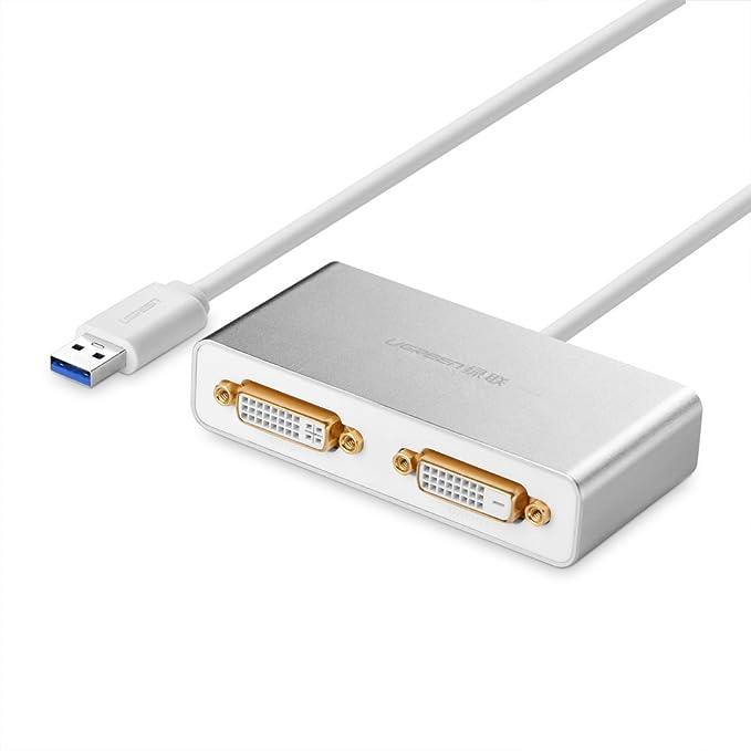 1 opinioni per UGREEN USB 3.0 a HDMI/DVI/VGA Adattatore Grafica Video Esterno Display con 3