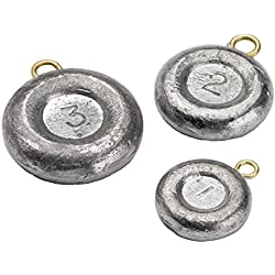 Bullet Weights Disc Fishing Sinker (8-Pack), 2-Ounce - DSI2-24
