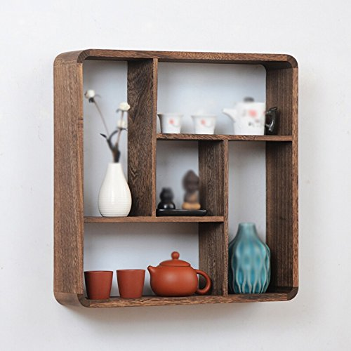 Chinese Wall Racks / Wood Ornaments / Wall Tea Shelf / Antique Shelf /  Living Room