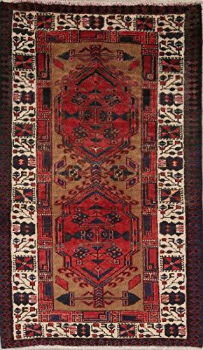 Rug Source One-of-A-Kind Meshkin Handmade 3x5 Red Wool Persian Oriental Area Rug (5' 0