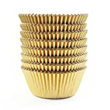 Eoonfirst Cupcake Case Liners Baking Muffin Paper Cups Cases Gold 198 Pcs
