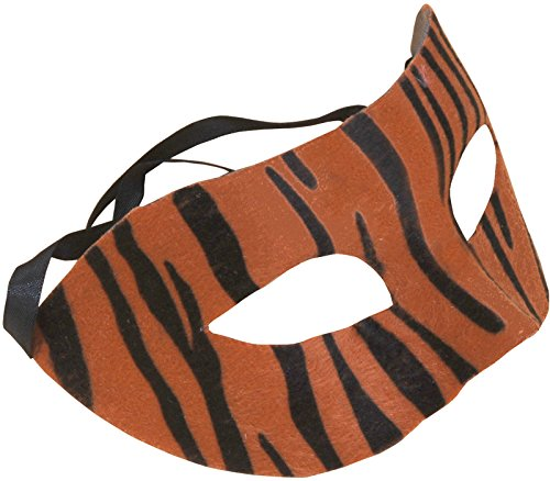 Loftus International Star Power Striped Tiger Half Mask, Orange Black, One-Size (6.5